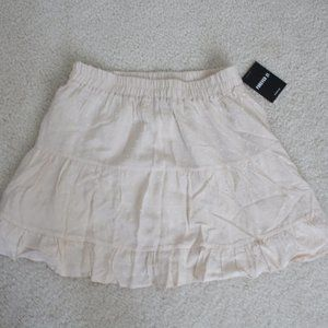 FOREVER 21 SOFT NUDE MINI SKIRT SMALL NWT!